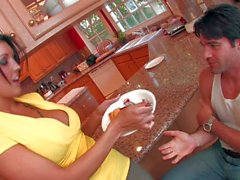 Flamoaynt Dylan Ryder doing wild things on her kitchen