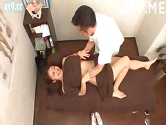 Titty Asian Chick Gets Massage Fucked