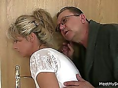 He leaves and horny parents seduces his hot GF