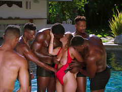 Blackout Lena Paul första interracial gangbang