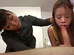 Cock Sucking lesson for petite asian girl Asia Zo