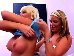 Shy sweetie Tiffany was nuts about cowboy butts! One kiss