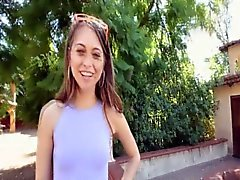 Riley Reid shows off tight petite pussy