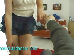 Amateur russian beauty lapdances for horny guy