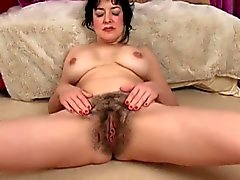 Super Hairy Pussy onBusty Brunette by TROC