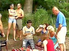 Familie Picknick Sex