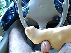 best nylon foot job ever