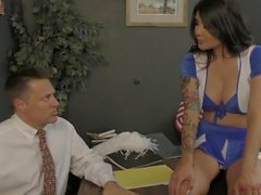 Cheerleader Takes Over The School - Brenna Sparks - Femdom