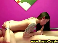 Asian masseuse includes blowjobs for her male clients