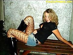 Hot blonde loves to swing with guys and girls