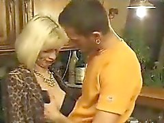 Blonde GILF Anal Fucked In A Kitchen Cuckold