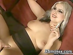Hot Breasts Smoking Gal Ready To Fuck