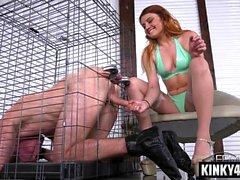 Hot pornstar bondage with cumshot