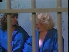 2 Grandmas (Kitty Foxx) eat each other pussy in jail