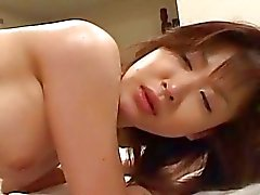 Japanese babe enjoys hot time with her guy and gets banged
