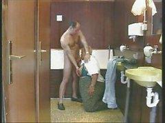 Perverse Brunette Milf Assfucked Anal In A Toilet Troia Bello Duro