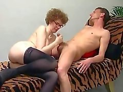 Mature slut gets fucked and filled with sperm