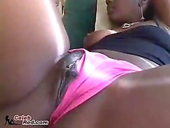 Erotic Ebony Wives Have Filthy Lesbian Sex