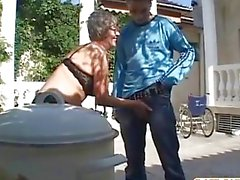 Old grandma sucks dick and fucks another dick by dow50