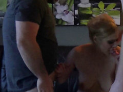 Amateur german slut get ass cumshot by homemade threesome