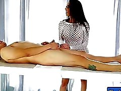 Hot masseuse gets fucked and facialed by her nasty client