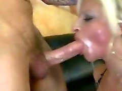 Shocking ex convict face fucks a blonde big tittied woman extremely hard
