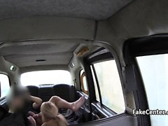 Fishnets milf assfucking in taxi