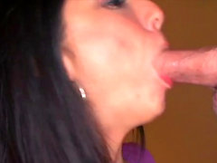 Hot amateur pov with swallow