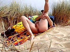 male nudist in the dunes