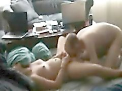 Noisy mom with the neighbor on spy camera
