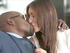 Secretary rides big black dick at interview