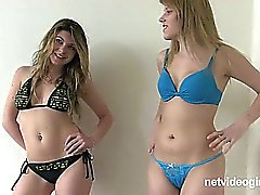 Lyra and Alana Lesbian Calendar Audition