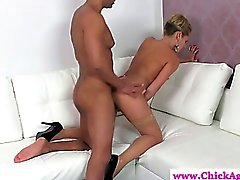 Blonde casting director fucked by model