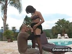 Shemale Fucking A Guy Outdoors