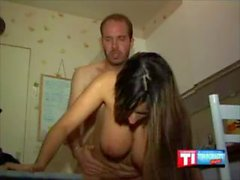 Huge Chested Arabic Chick Reamed