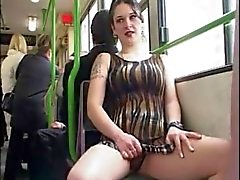 flasher girl in the bus