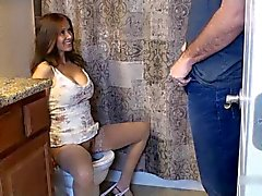 Step-mom caught in toilet 2