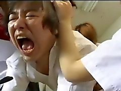 Strapon gangbang by 3 japanese schoolgirls