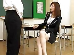 Teacher Giving Blowjob For Student In The Classroom