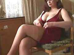 Big tits moget trosa lek samt striptease-