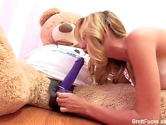 Brett Rossi Fucks a teddy bear