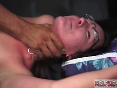 Extreme feet tickle and sex slaves orgasm from master Helpl