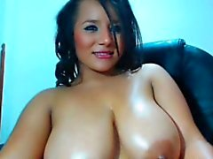 Busty tiny Asian chick live cam model