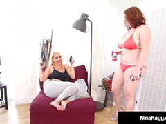 Big Butt Nina Kayy Pounds Maggie Green Until She Cums!