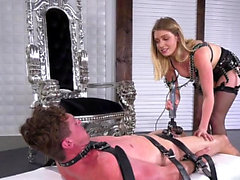 Hot pornstar bondage and cumshot