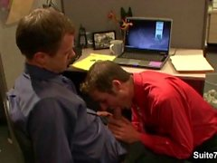 Horny office gays screwing asses in the office
