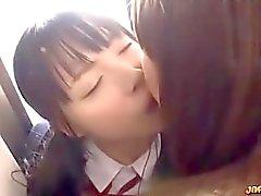 Japanisch Lesbisch Mädchen Kiss