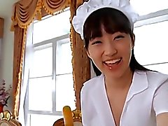 softcore asian maid skirt panty tease