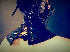Latex Victorian Neck Corset