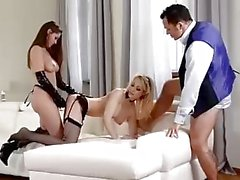 Teen Dominatrix Fucks French Maid with her Step Father